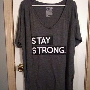 Stay Strong plus size top